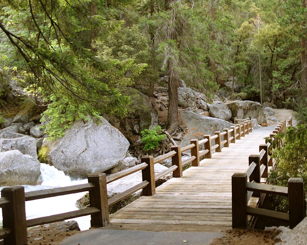 Wooden Bridge on the Mist Trail